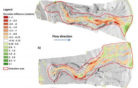 השפעת אירועי זרימה על תהליכים גיאומורפולוגיים בנחלים דוד וקדם